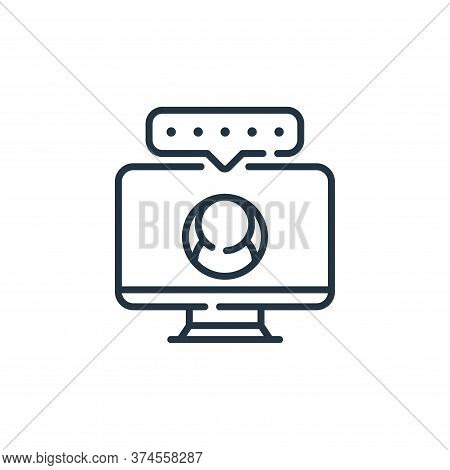 monitor icon isolated on white background from social media collection. monitor icon trendy and mode