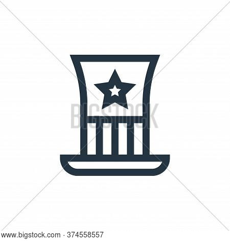 usa icon isolated on white background from united states of america collection. usa icon trendy and