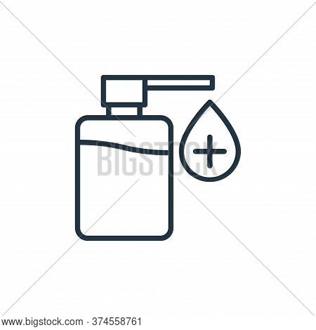 sanitizer icon isolated on white background from stop virus collection. sanitizer icon trendy and mo