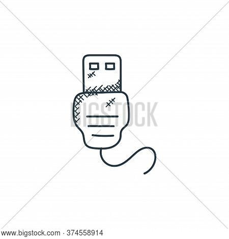usb connector icon isolated on white background from technology collection. usb connector icon trend