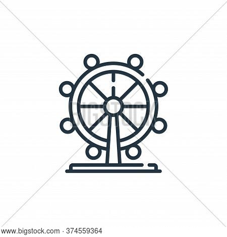 london eye icon isolated on white background from england collection. london eye icon trendy and mod