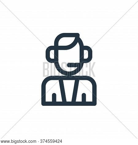 commentator icon isolated on white background from auto racing collection. commentator icon trendy a