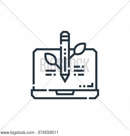 organic icon isolated on white background from marketing collection. organic icon trendy and modern