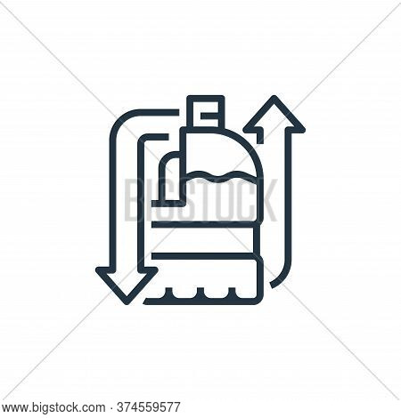 milk bottle icon isolated on white background from recycling collection. milk bottle icon trendy and