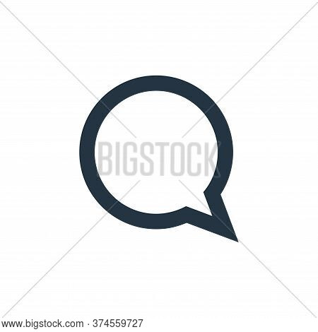 chat icon isolated on white background from user interface collection. chat icon trendy and modern c