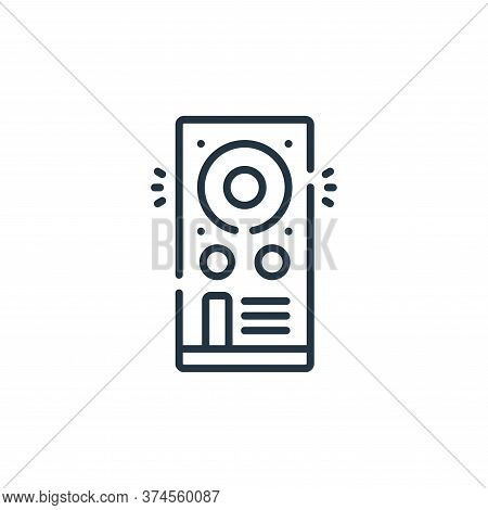 speaker icon isolated on white background from celebration collection. speaker icon trendy and moder