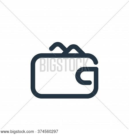 wallet icon isolated on white background from shopping collection. wallet icon trendy and modern wal