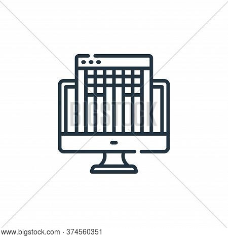 Guidelines Vector Icon From Web Development Collection Isolated On White Background