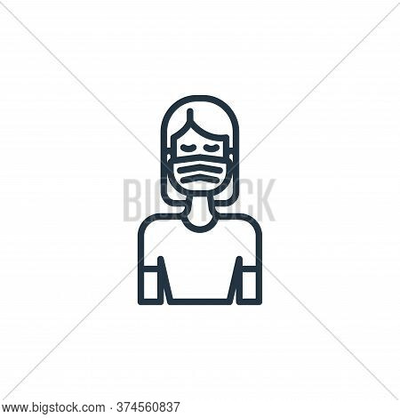 face mask icon isolated on white background from virus transmission collection. face mask icon trend