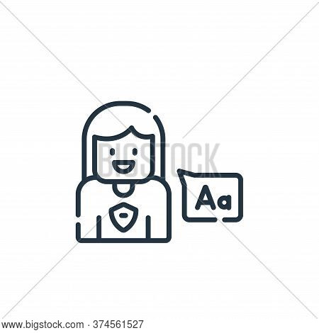 language icon isolated on white background from academy collection. language icon trendy and modern