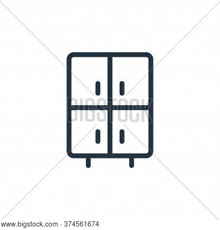 cabinet icon isolated on white background from work office supply collection. cabinet icon trendy an