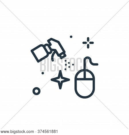 mouse icon isolated on white background from hygiene collection. mouse icon trendy and modern mouse