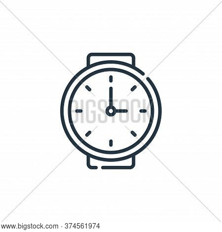 wristwatch icon isolated on white background from calendar and date collection. wristwatch icon tren