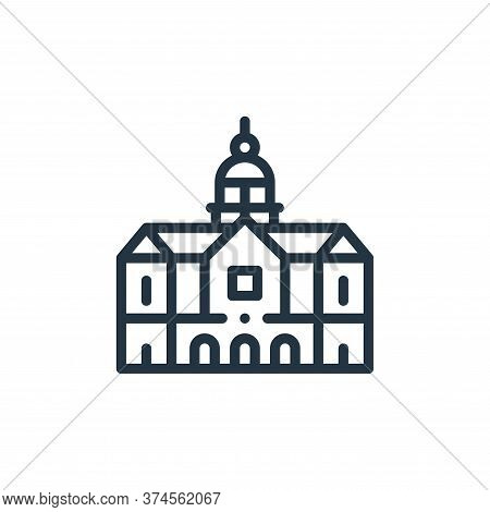royal palace icon isolated on white background from holland collection. royal palace icon trendy and
