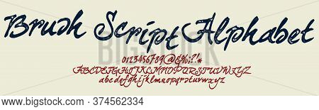 Hand Drawn Calligraphy Typeface For Logos.outdoor Poster Advertising Inspired Font. Textured Unique