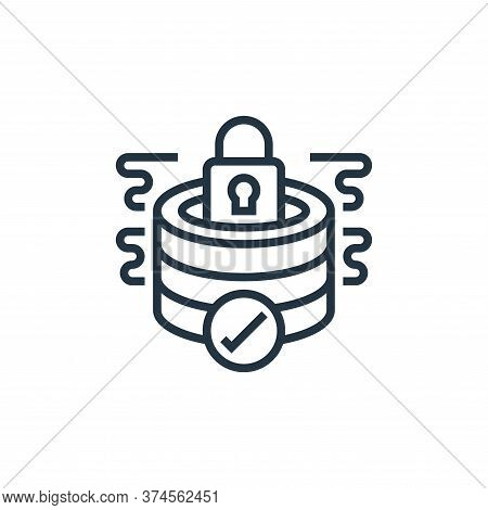 database security icon isolated on white background from confidential information collection. databa