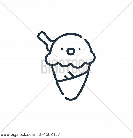 ice cream icon isolated on white background from italy collection. ice cream icon trendy and modern
