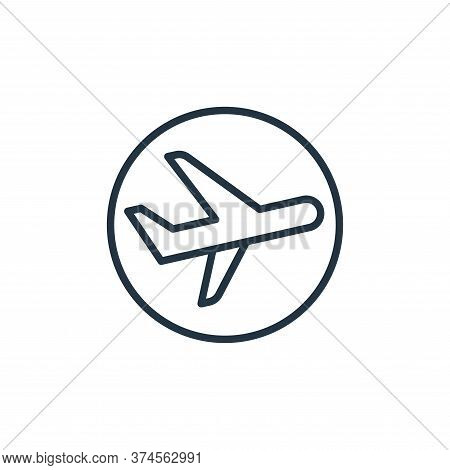 airplane icon isolated on white background from stop virus collection. airplane icon trendy and mode