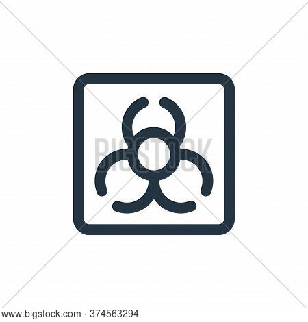 biohazard icon isolated on white background from virus transmission collection. biohazard icon trend