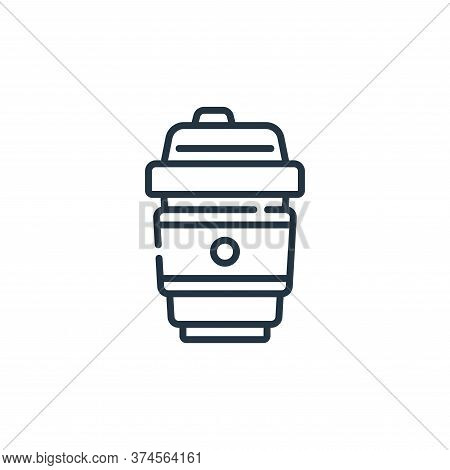 coffee cup icon isolated on white background from plastic products collection. coffee cup icon trend