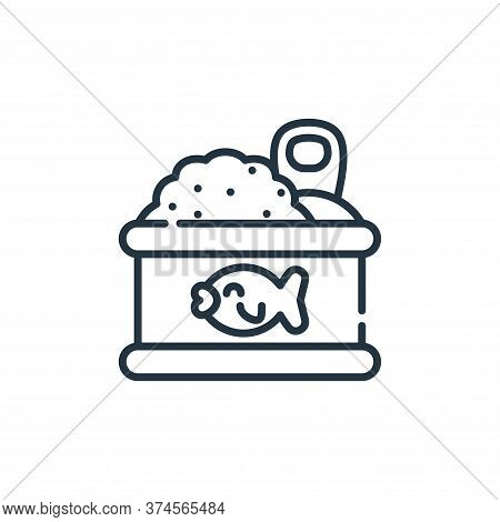 canned food icon isolated on white background from pets collection. canned food icon trendy and mode
