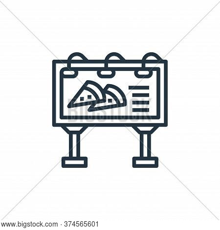 billboard icon isolated on white background from motorway collection. billboard icon trendy and mode