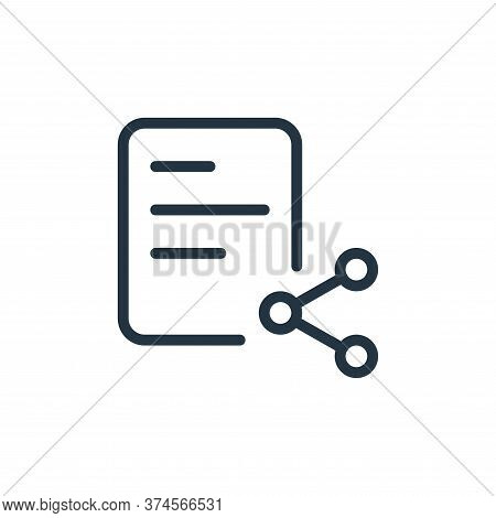 share icon isolated on white background from work office supply collection. share icon trendy and mo
