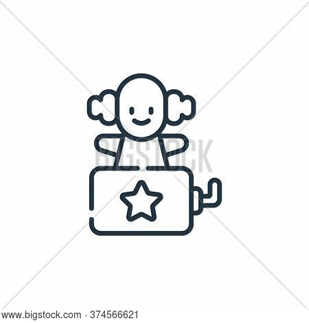 clown icon isolated on white background from children toys collection. clown icon trendy and modern