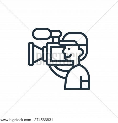 camera operator icon isolated on white background from cinema collection. camera operator icon trend