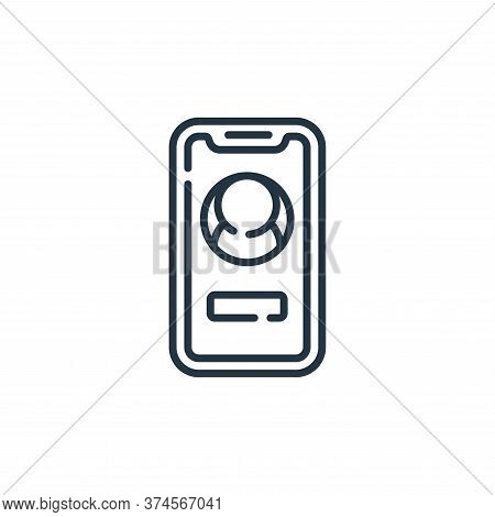 smartphone icon isolated on white background from social media collection. smartphone icon trendy an