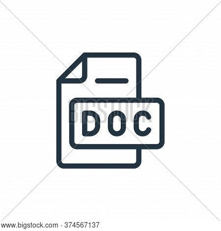 word icon isolated on white background from online learning collection. word icon trendy and modern