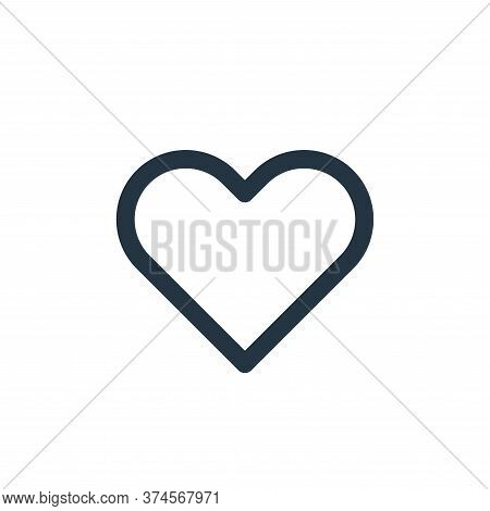 love icon isolated on white background from user interface collection. love icon trendy and modern l