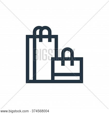 shopping bags icon isolated on white background from hobbies collection. shopping bags icon trendy a