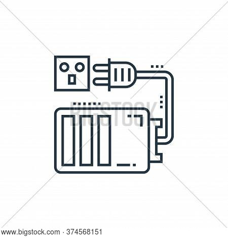 battery charge icon isolated on white background from technology devices collection. battery charge