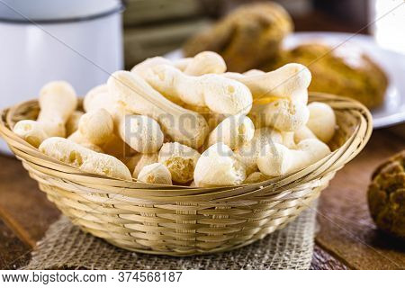Traditional Brazilian Starch Biscuit, Called Polvilho Biscuit,