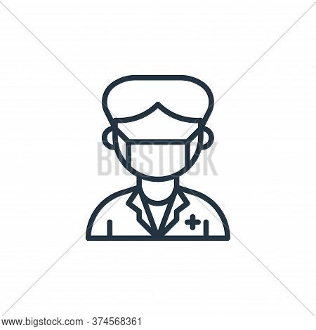 Paramedic Vector Icon From Coronavirus Collection Isolated On White Background