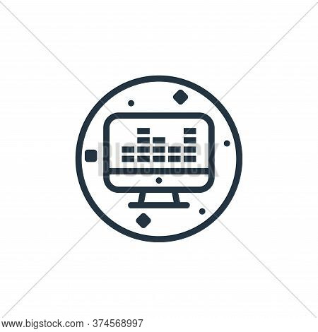 sound mixer icon isolated on white background from music and sound collection. sound mixer icon tren
