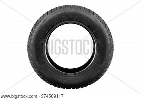 New Winter Tire From The Car On A White Background