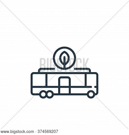 electric bus icon isolated on white background from technology of the future collection. electric bu