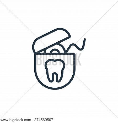 dental floss icon isolated on white background from hygiene collection. dental floss icon trendy and