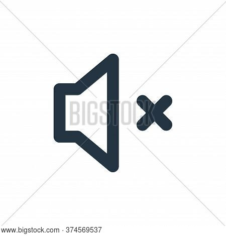 no sound icon isolated on white background from user interface collection. no sound icon trendy and