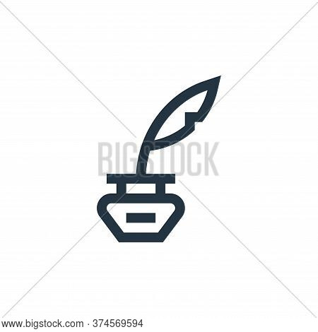 feather pen icon isolated on white background from news collection. feather pen icon trendy and mode
