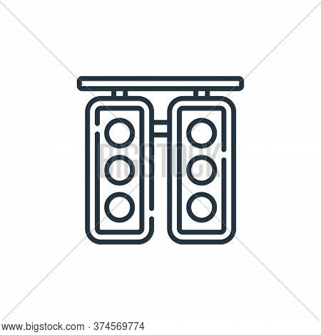 traffic light icon isolated on white background from auto racing collection. traffic light icon tren