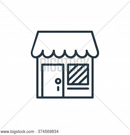 shop icon isolated on white background from shopping line icons collection. shop icon trendy and mod