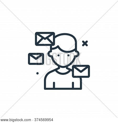 mails icon isolated on white background from work from home collection. mails icon trendy and modern