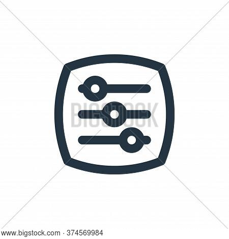 adjust icon isolated on white background from basic ui collection. adjust icon trendy and modern adj