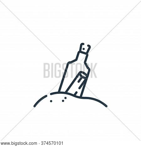 message in a bottle icon isolated on white background from hope collection. message in a bottle icon