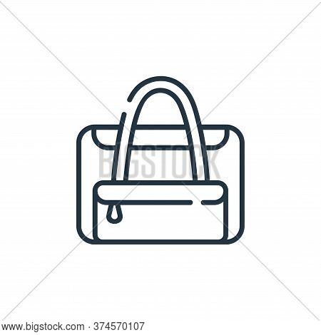 baby bag icon isolated on white background from maternity collection. baby bag icon trendy and moder