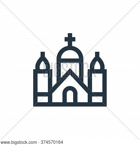 church icon isolated on white background from holland collection. church icon trendy and modern chur