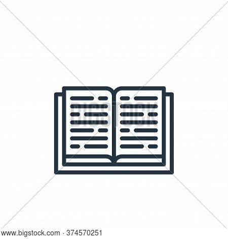book icon isolated on white background from education collection. book icon trendy and modern book s